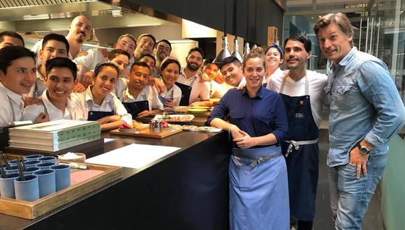Nikolaj Coster-Waldau durante su visita al restaurante Central de Lima. Foto: Central.