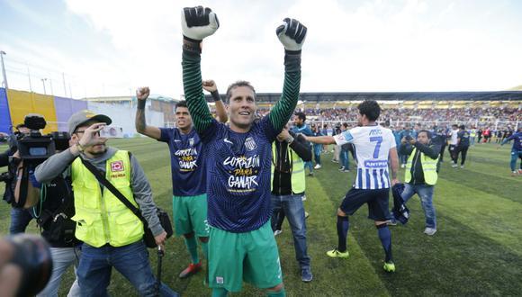 El héroe de Alianza: Leao Butrón. (Foto: Alonso Chero/El Comercio)