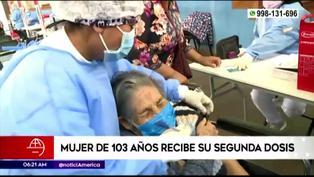 Coronavirus en Perú: Mujer de 103 años recibe segunda dosis