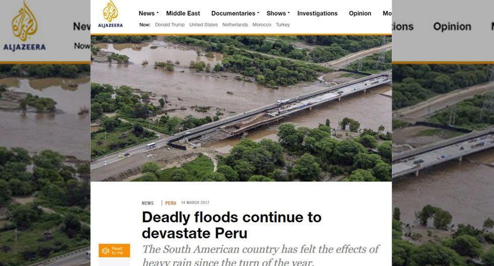 Así informa la prensa mundial sobre las lluvias en el Perú - 2