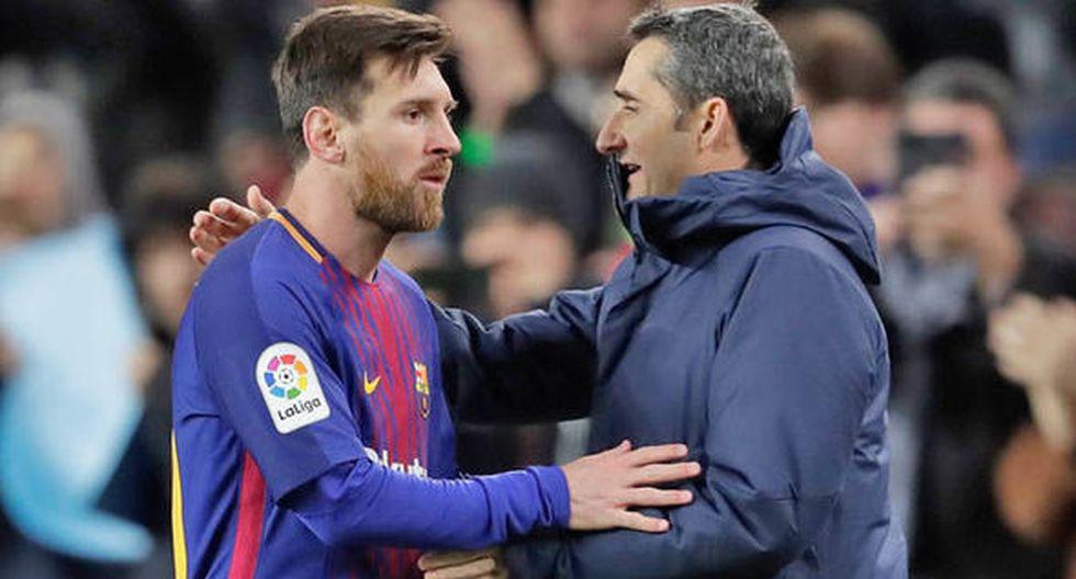 """""""Un premio que dice 'el mejor' y no está el mejor... pero vamos, no tengo nada que decir"""", indicó Ernesto Valverde en alusión a la no consagración de Lionel Messi en los premios FIFA The Best. (Foto: AFP)"""