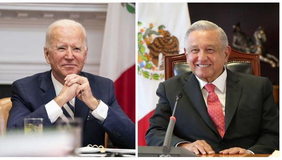 El presidente de Estados Unidos, Joe Biden, se reúne virtualmente con Andrés Manuel López Obrador, el presidente de México. (Foto: Anna Moneymaker / The New York Times / Bloomberg / Oficina de la Presidencia de México / REUTERS).