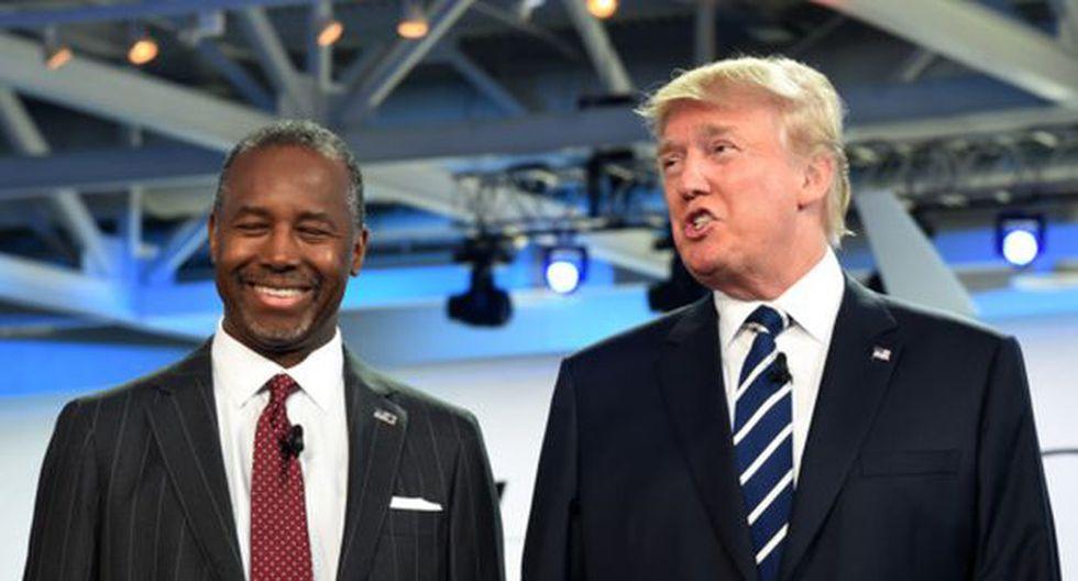 Ben Carson le pisa los talones a Donald Trump en nuevo sondeo