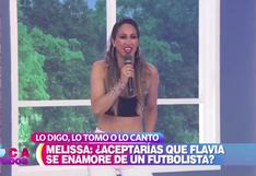 Melissa Loza respondió si aceptaría que su hija Flavia se enamore de un futbolista