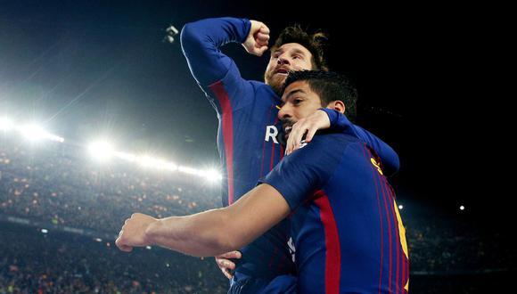 Lionel Messi se despidió de Luis Suárez mediante las redes sociales. (Foto: REUTERS)