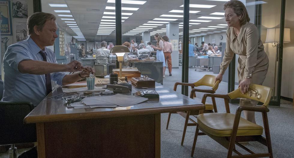 The Post. La película, dirigida por Steven Spielberg y escrita por Liz Hannah y Josh Singer, tuvo un presupuesto de US$50 millones. Contó con las actuaciones de Meryl Streep, Tom Hanks y Sarah Paulson, entre otros. (Foto: AP)