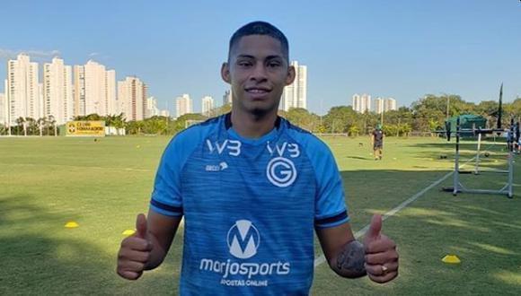 Kevin Quevedo jugó apenas dos partidos en el Goiás. (Foto: Instagram)