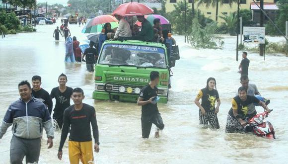 Malasia: Más de 23.000 personas evacuadas por las inundaciones. (Foto: AFP)