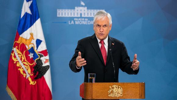 El presidente de Chile, Sebastián Piñera, decretó el toque de queda para enfrentar la pandemia de coronavirus. (AFP).