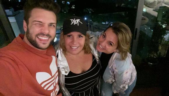 """Magda Rodríguez  tuvo sentidas palabras a Nicola Porcella tras acabar la primera temporada de """"Guerreros 2020"""". (Instagram: @magdaproducer / @nicolaporcella12)."""