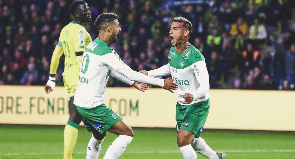 Miguel Trauco, en 45 minutos, anotó un gol y dio una asistencia contra Nantes. (Foto: ASSE)