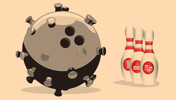 """""""A medida que las empresas se enfrentan a la perspectiva de una interrupción repentina de sus flujos de efectivo, los más expuestos son una generación relativamente nueva de empresas que ya luchan por pagar sus préstamos"""". (Ilustración: El Comercio)"""