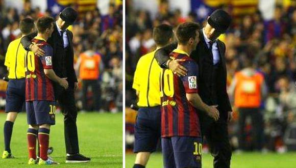 Cristiano Ronaldo consoló a Leo Messi al final del partido