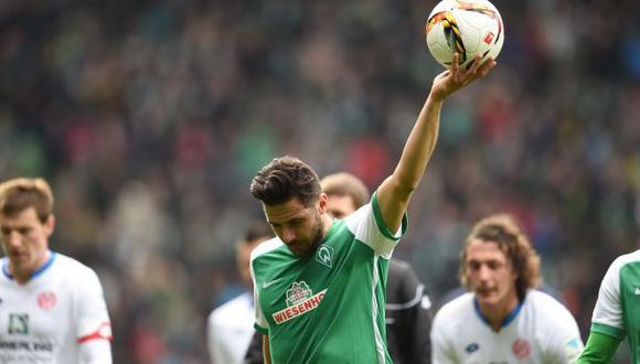 Con gol de Pizarro, Bremen empató 1-1 ante Mainz por Bundesliga