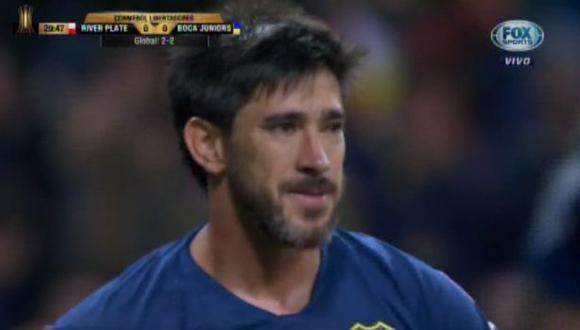 Boca vs. River EN VIVO: la nueva chance que tuvo Pablo Pérez para marcar el 1-0. (Foto: captura)