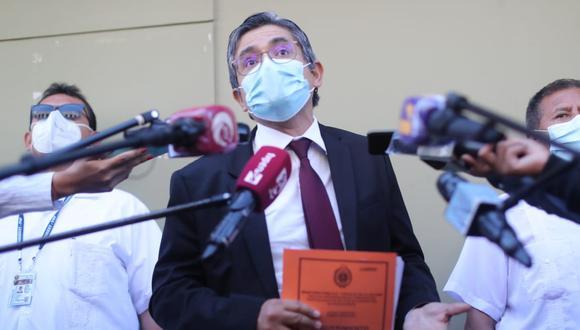 José Domingo Pérez tiene un plazo de cinco días para presentar los descargos correspondientes (Foto: Lino Chipana / El Comercio)