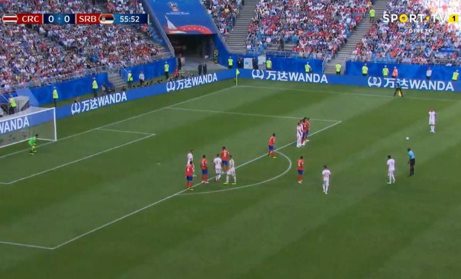 Costa Rica vs. Serbia: Kolarov marcó golazo de tiro libre en el Mundial Rusia 2018. (Foto: Captura de video)