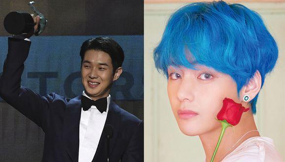 Así es como celebró el miembro de la banda BTS, V, la victoria de 'Parasite' y de su gran amigo Choi Woo Shik. (Foto: AFP / Fb)