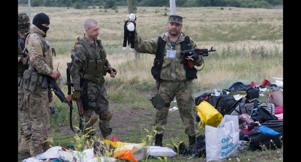 Separatistas impiden la investigación de los restos del avión