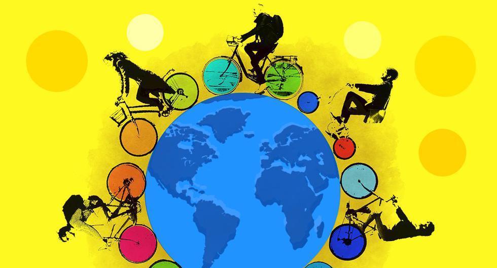 Las bicicletas, que eran un medio de transporte para quien no podía comprar un auto y para otros un medio recreativo, se están convirtiendo en un medio de transporte universal. (Ilustración: Víctor Aguilar)