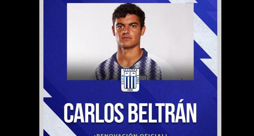 Carlos Beltrán renovó con Alianza Lima (Foto: Alianza Lima)