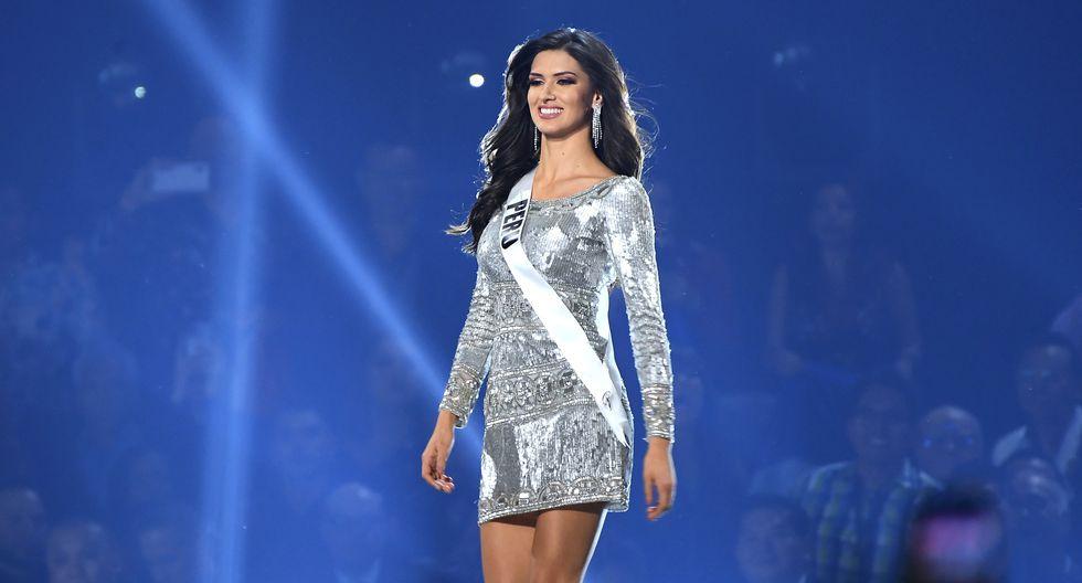 Kelin Rivera, al momento de clasificar en el Top 10 de Miss Universo. Foto: AFP.