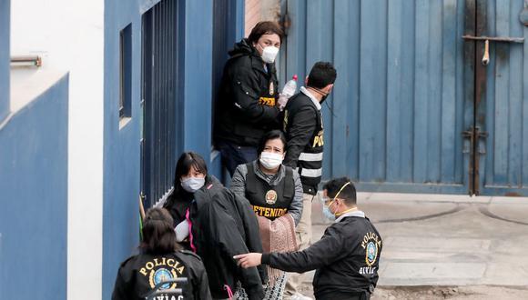 El viernes último, el Poder Judicial dictó detención preliminar por 7 días contra Richard Cisneros, Miriam Morales y Karem Roca, Óscar Vásquez, entre otros. (Foto: Leandro Britto / @photo.gec)
