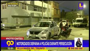 VMT: dos policías heridos tras balacera durante persecución a delincuentes