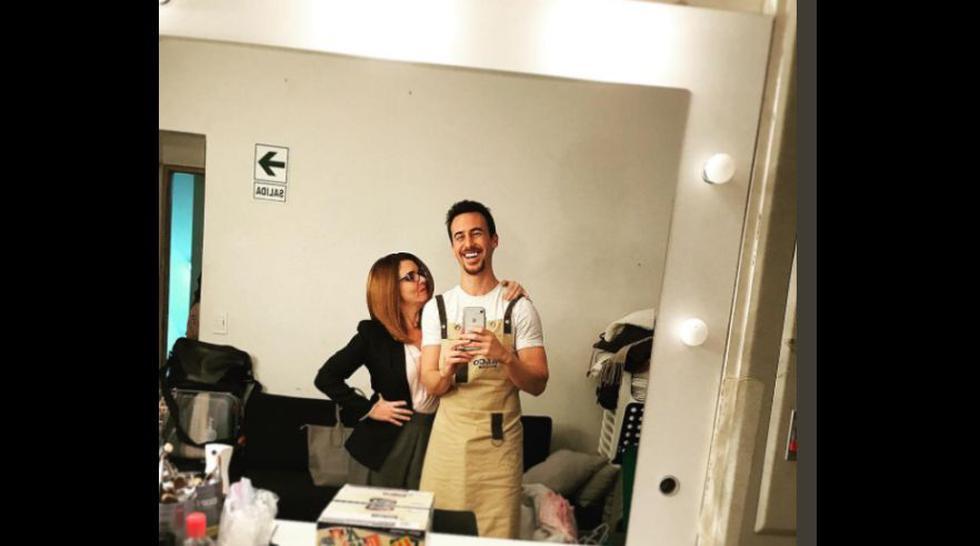 Villalobos y Vanessa Saba. (Foto: Twitter)