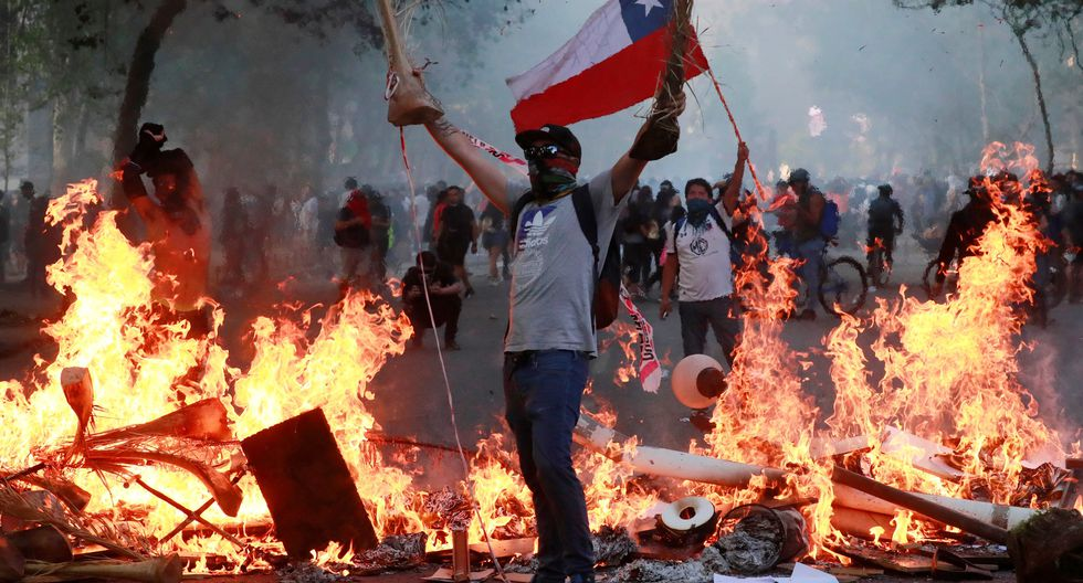 Las protestas en Chile continúan. Foto: Reuters