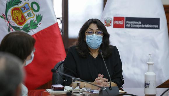 La primera ministra, Violeta Bermúdez, anunció que acudirá al Congreso tras la muerte de dos personas en La Libertad. (Foto: PCM)
