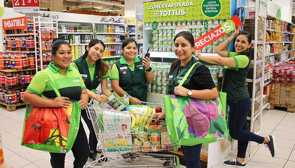 Más de 4.700 mujeres trabajan en Hipermercados Tottus.