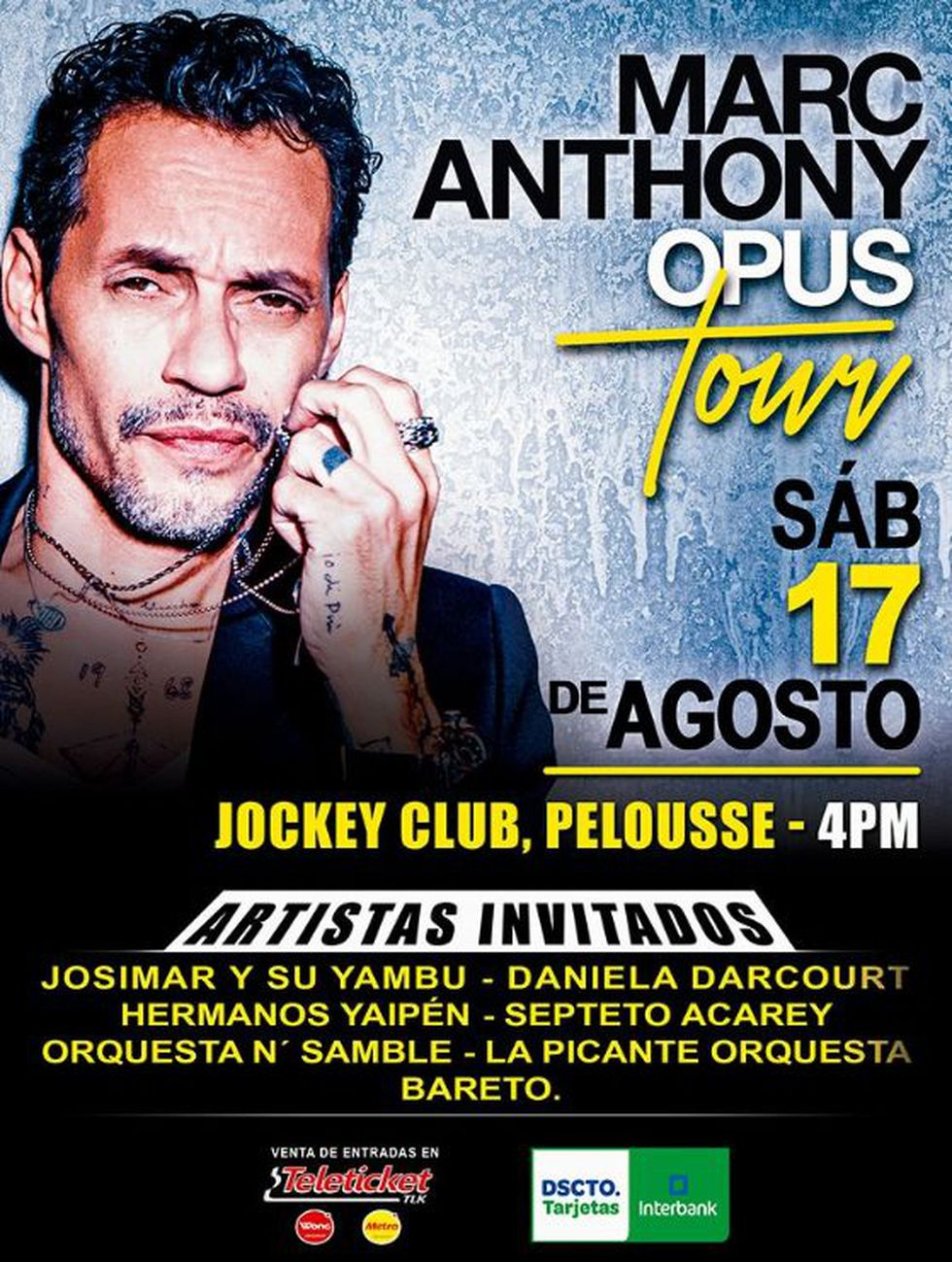 Marc Anthony regresa a Lima.