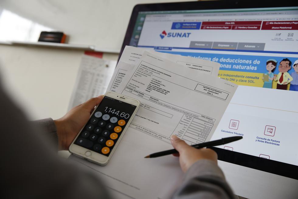 SUNAT ha habilitado un espacio para que las personas puedan realizar sus pagos de modo virtual. (Foto: GEC)