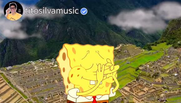 "Tito Silva sorprende al presentar su remix ""Bob Esponja Andino"". (Foto: captura YouTube)"