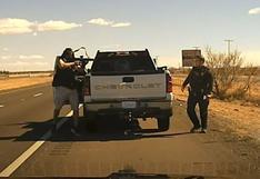 El impactante momento en que un narcotraficante mata a un policía en un control de tránsito