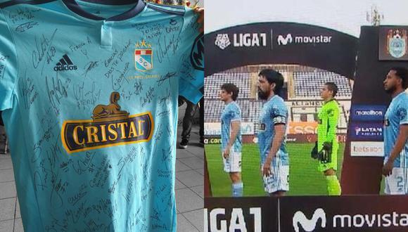 Plantel celeste envió camiseta firmada a la familia de Inti Sotelo.