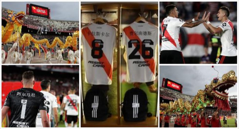 Las postales del homenaje de River Plate por el Año Nuevo Chino en duelo ante Banfield. (Foto: River Plate / AFP)