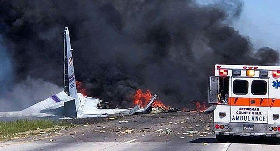 Se estrella avión militar de Estados Unidos cerca de aeropuerto de Savannah, Georgia. (EFE):