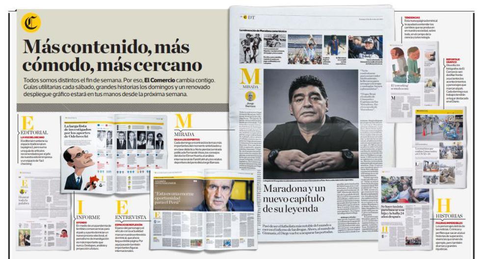 Diario El Comercio Cambia Asi Sera Nuestra Edicion Impresa Los Fines De Semana Periodismo Coronavirus Transformacion Digital Desde La Redaccion El Comercio Peru