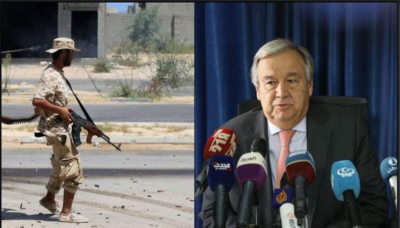 Antonio Guterres, expresó supreocupación por los movimientos militares que se producen en Libia y que elevan el riesgo de confrontación. (Foto: AFP)