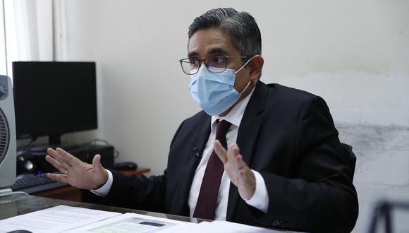 """José Domingo Pérez ha pedido que se tomen medidas frente a las """"amenazas"""" de Keiko Fujimori. (Foto: Hugo Pérez / GEC)"""