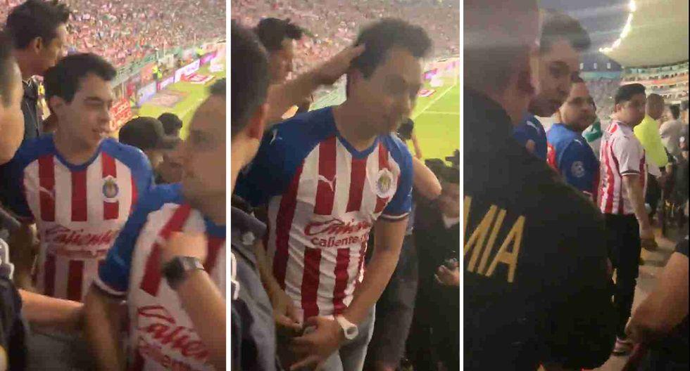 Ivansfull, conocido youtuber hincha de Chivas, la pasó mal en el Nou Camp de México. (Captura y video: Twitter Playeras de Chivas)