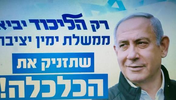 El partido de Benjamin Netanyahu lidera los resultados a boca de urna en Israel. (Foto: EFE).