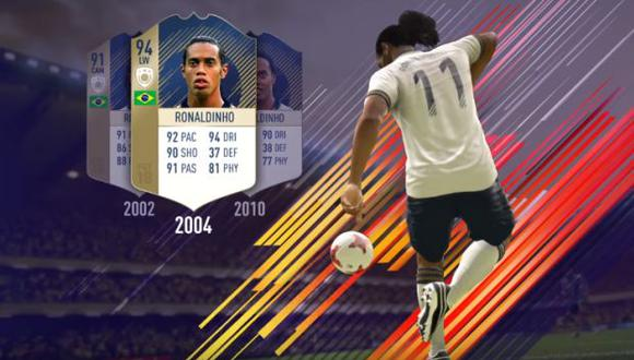 Ronaldinho en el FIFA 18. (Foto: captura de Facebook)