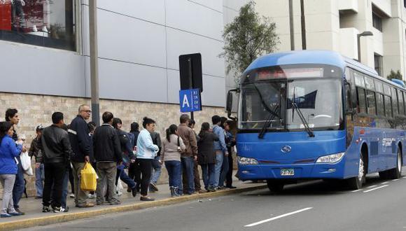 Corredor azul: 25% de limeños aprueba el servicio de transporte