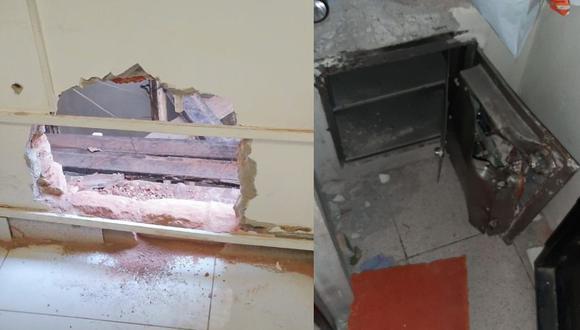 Sullana: Ladrones hacen forado desde una casa abandonada y roban 89 mil soles de tienda (Foto: PNP)