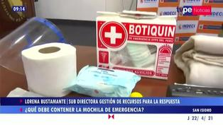 ¿Qué debe contener mi mochila de emergencia para casos de sismo?