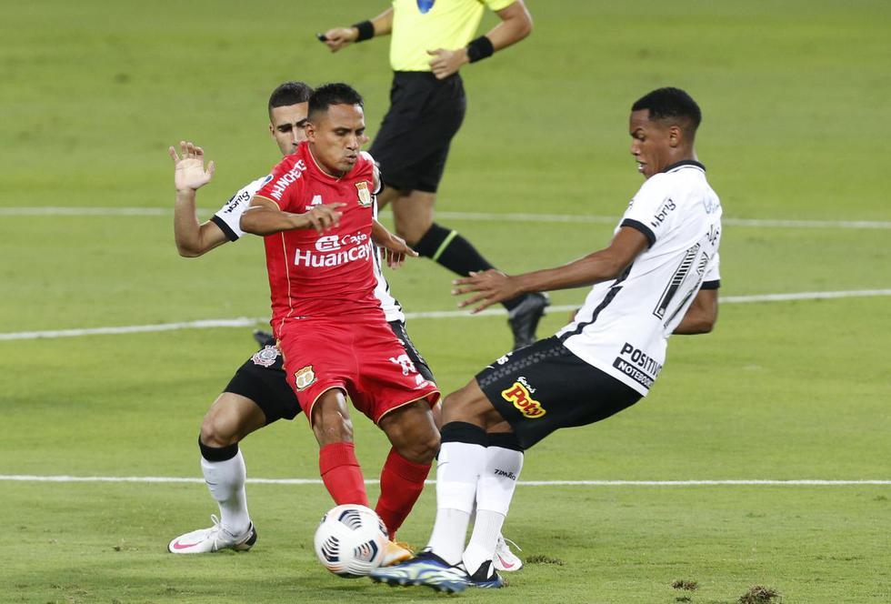 Sport Huancayo vs. Corinthians por Copa Sudamericana 2021. Violeta Ayasta/@photo.gec