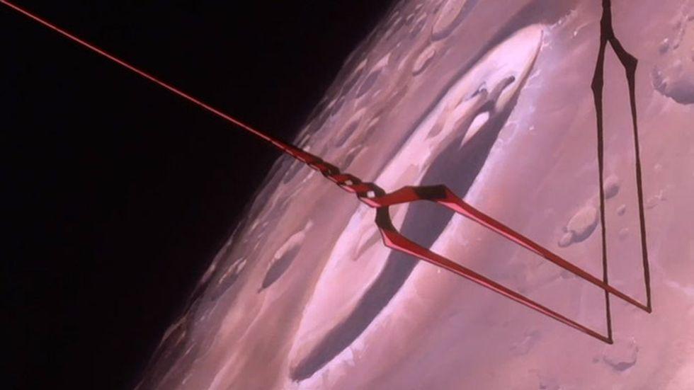 """La """"Lanza de Longinus"""" es el único artefacto que puede atravesar el Campo A.T. (Foto: Evangelion)"""